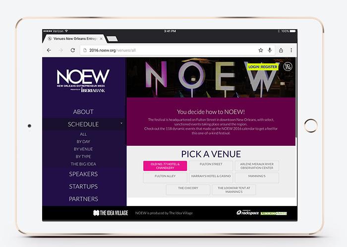NOEW 2016 events by venue
